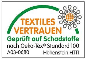 Gütesiegel für Reisebbetmatratzen Öko-Tex 100